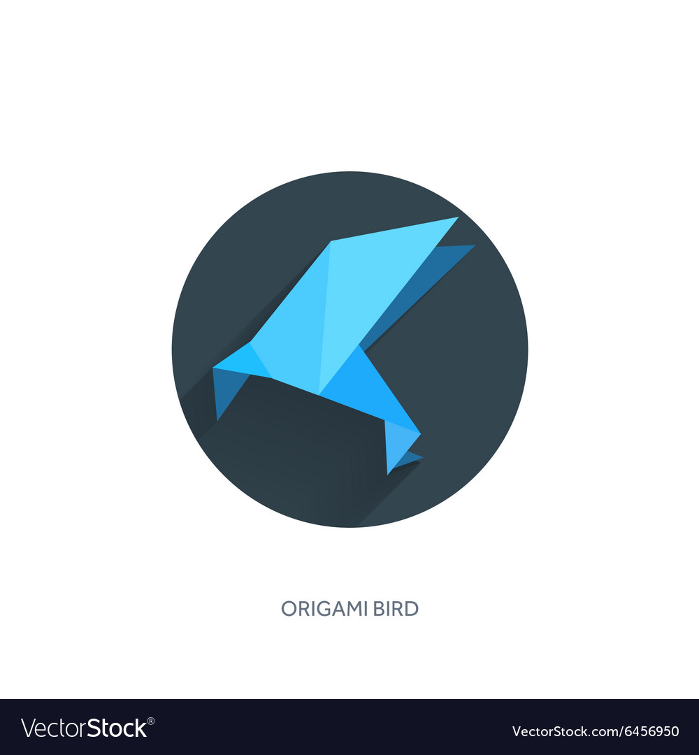 Origami Crane Flat Icon Vector Images 46 Goose Diagrams