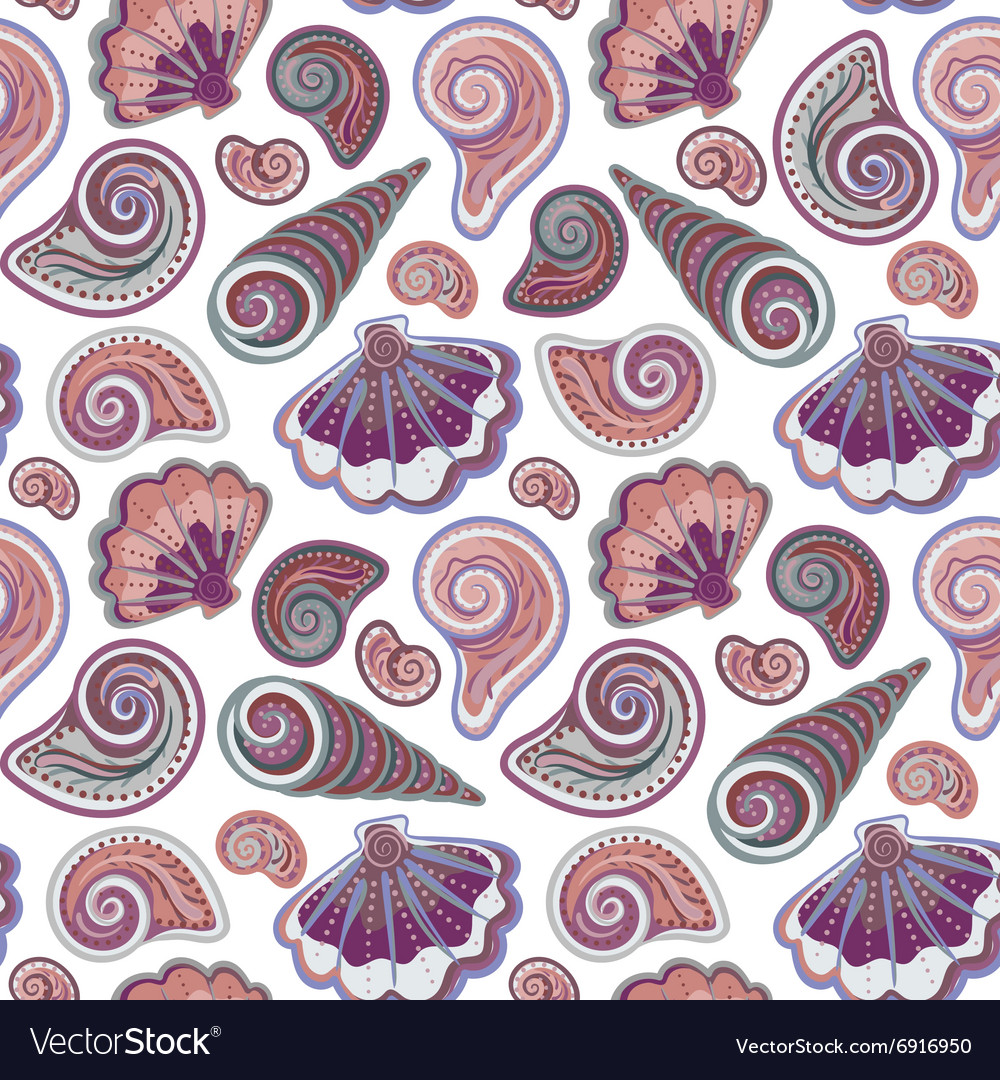 Sea seamless pattern Original hand drawn
