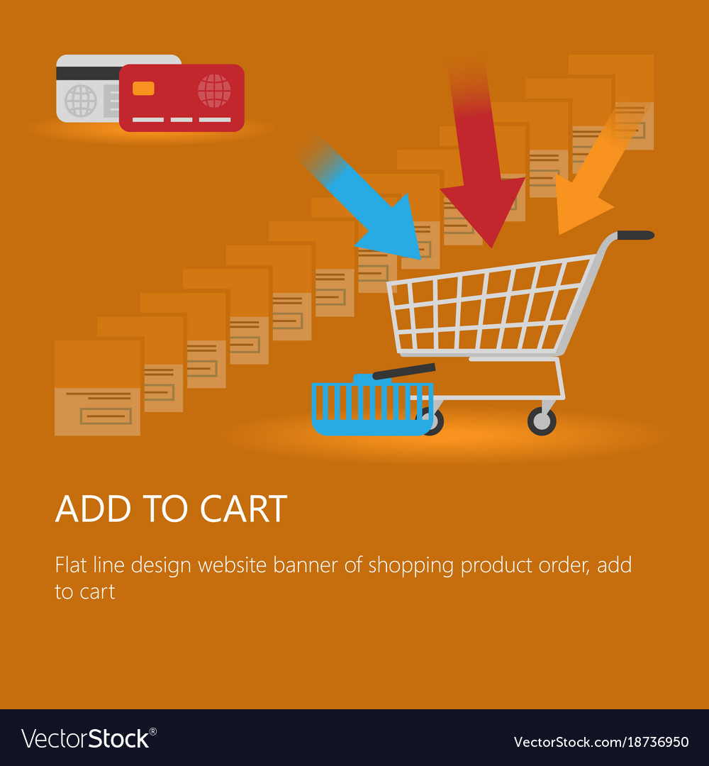 Shopping cart icon with an inscription