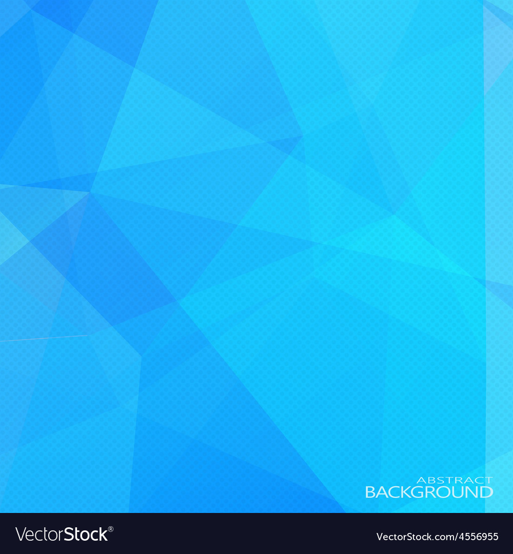 Abstract blue polygonal background with halftone