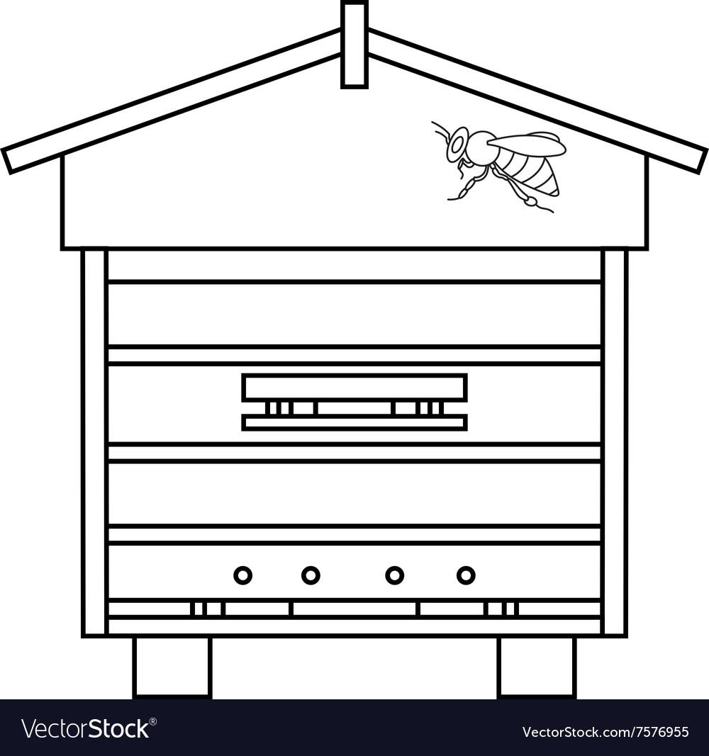 Bee beehive outline