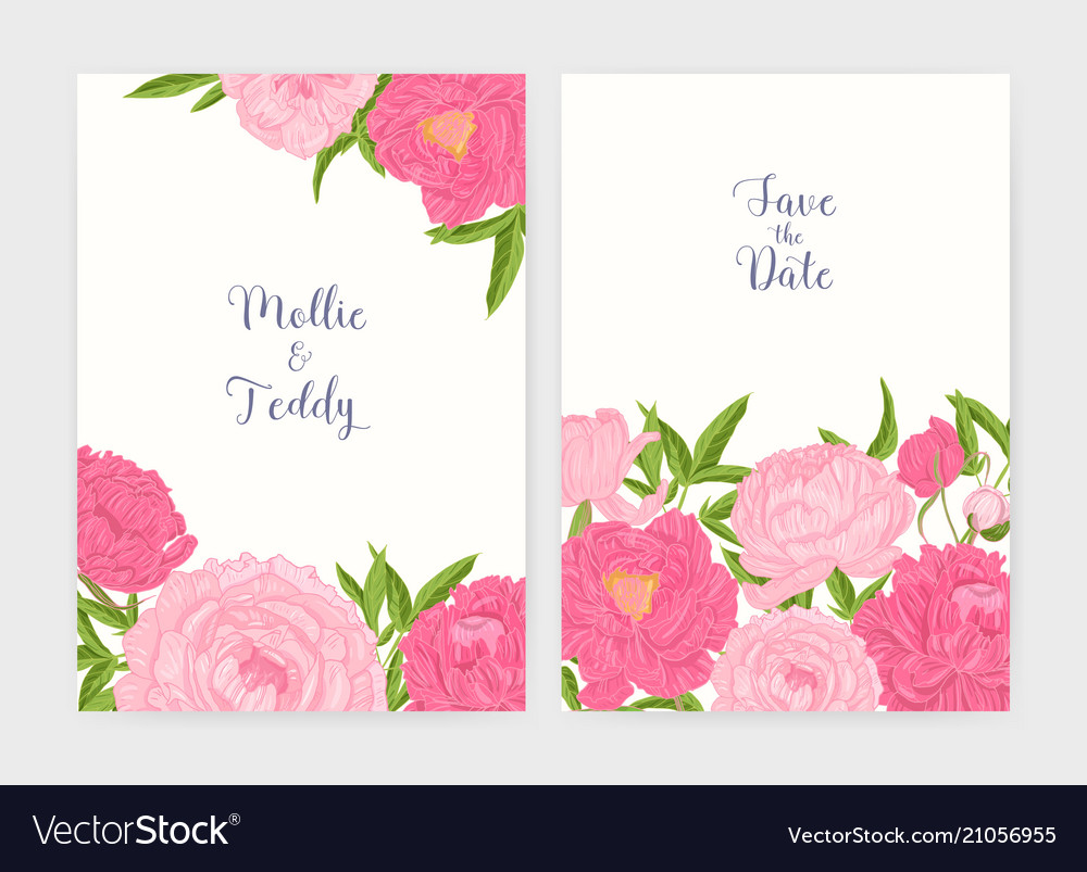Bundle of wedding invitation and save the date