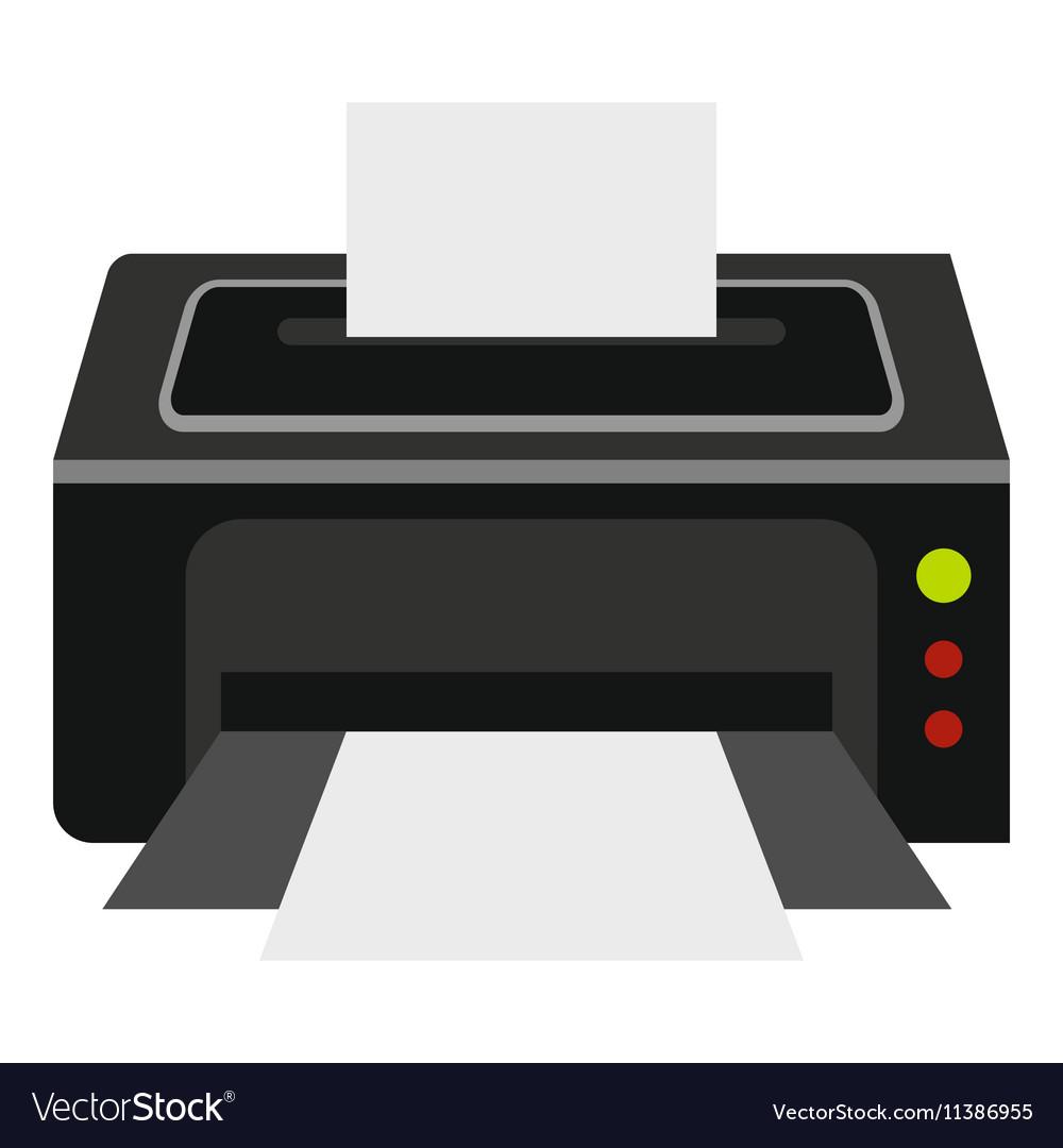 Printer icon flat style
