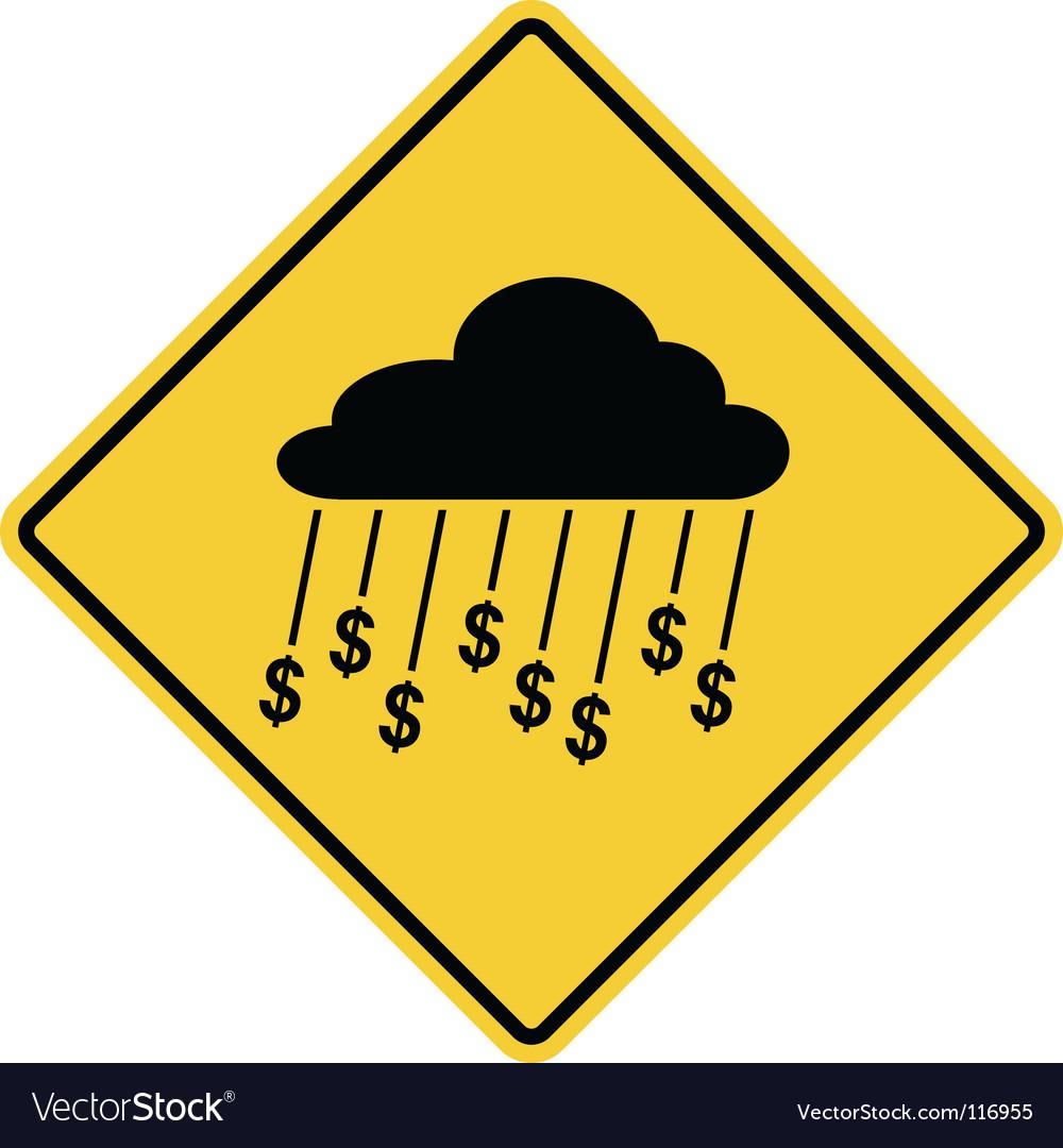 money sign. Rain Of Money Sign Vector