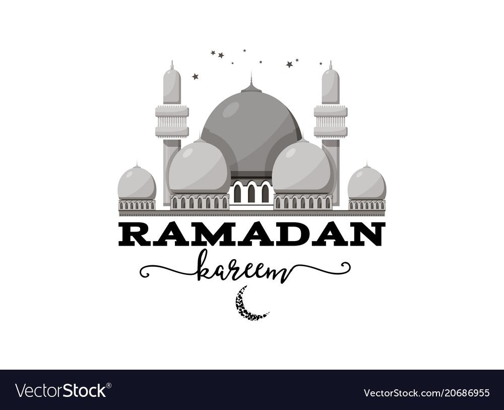 Ramadan kareem mubarak banner for postcards and