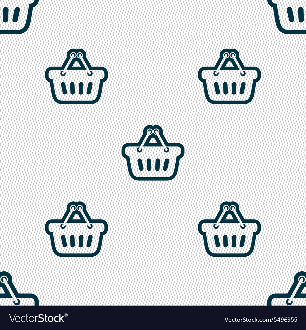 Shopping cart icon sign Seamless pattern with
