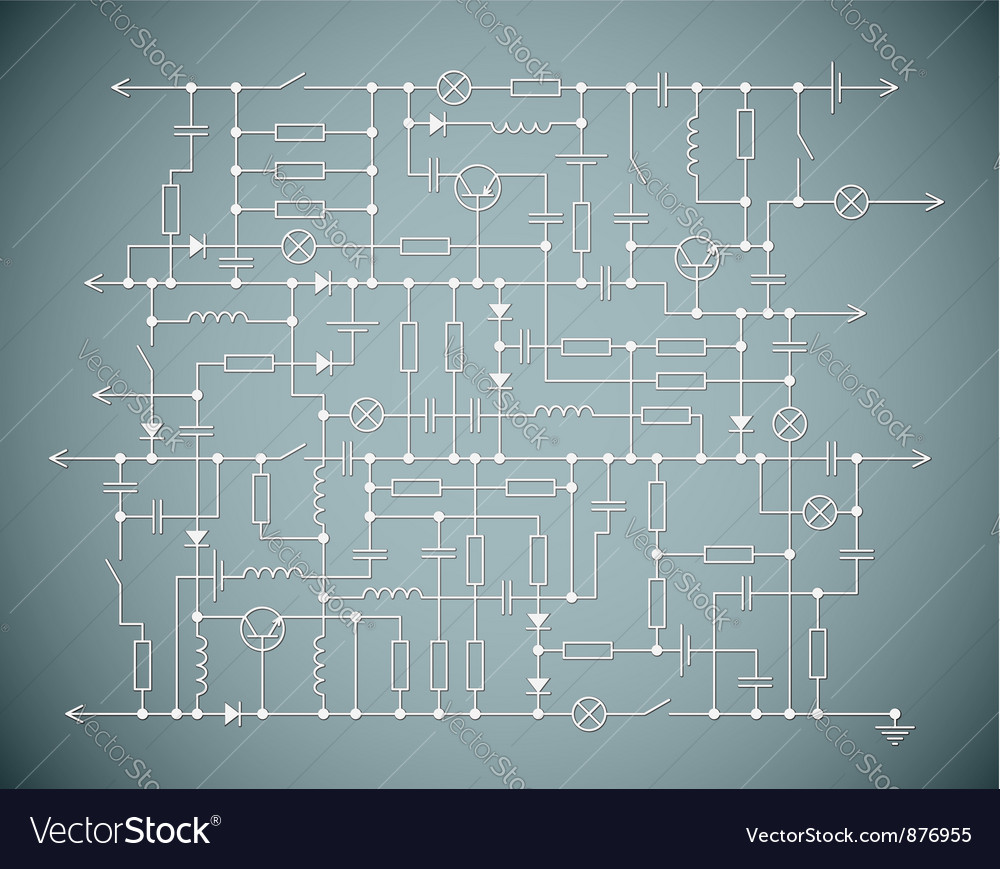 The electric scheme Royalty Free Vector Image - VectorStock