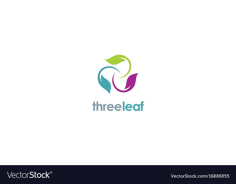 Three Color Leaf Logo