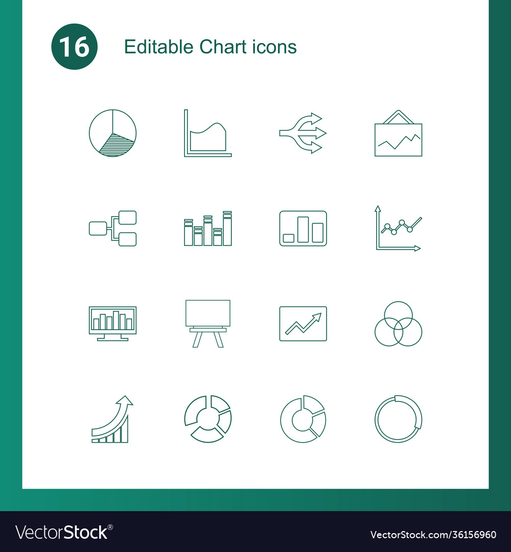 16 chart icons