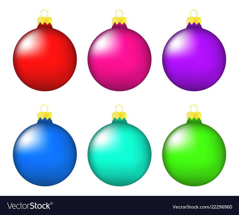 Christmas bauble icon set symbol design winter