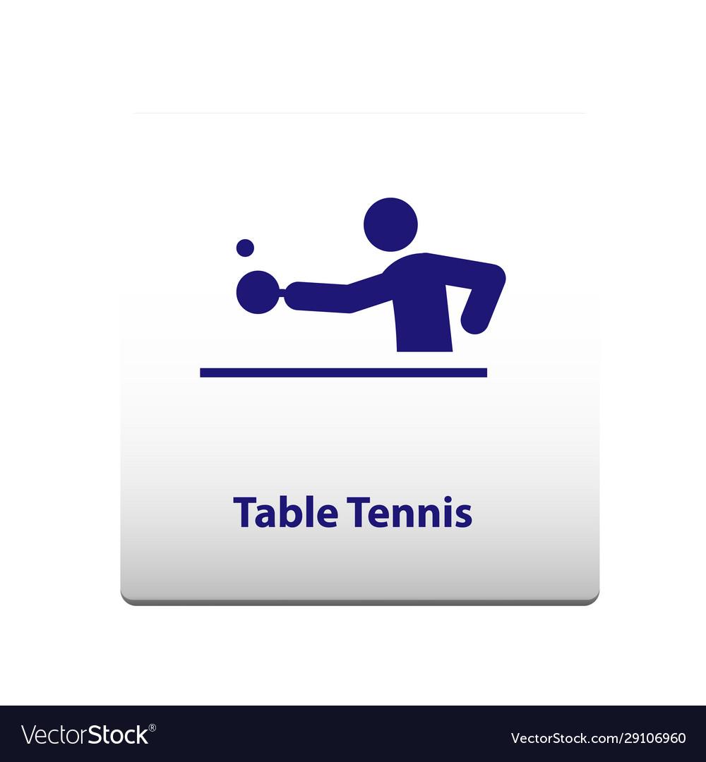 Table tennis sport symbol stickman solid icon
