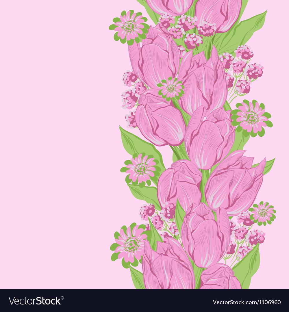 Tulips Seamless flowers pattern