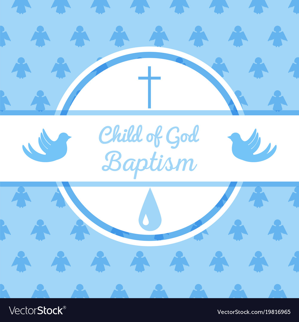 baptismal invitation template vector images 96