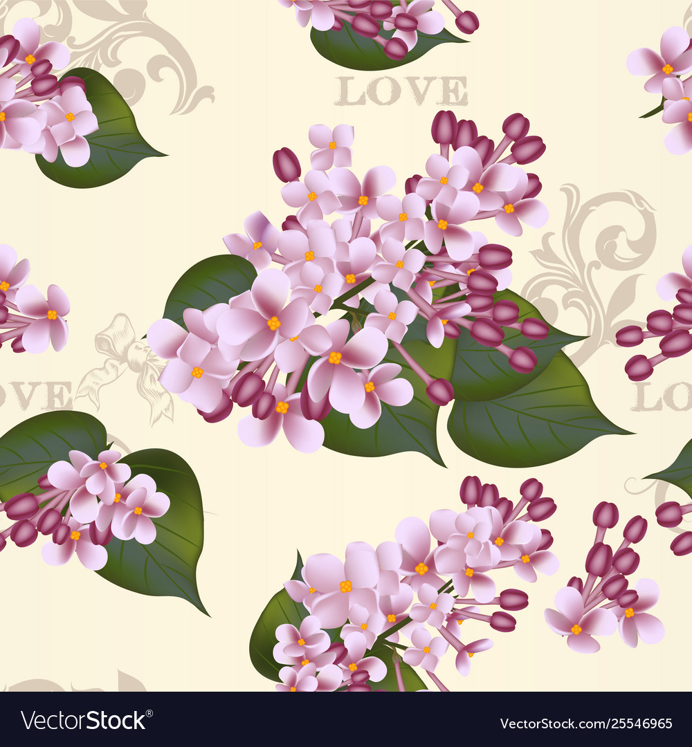 Beautiful seamless floral pattern with lilac
