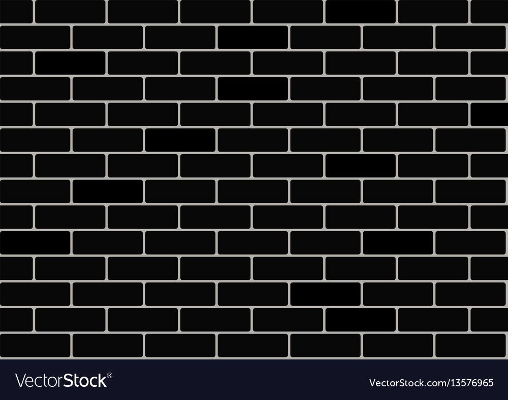 Black brick wallpaper Royalty Free Vector Image