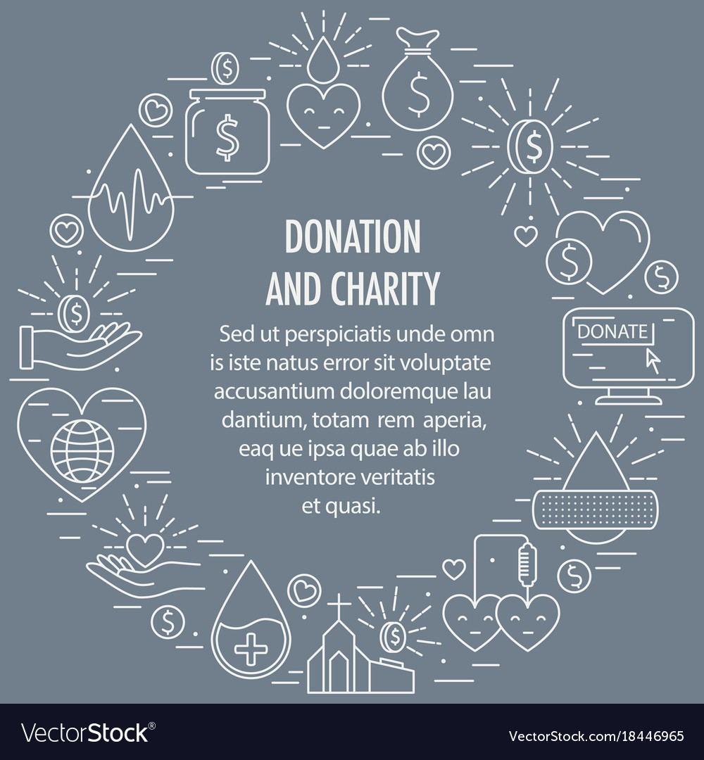 Donation circle template