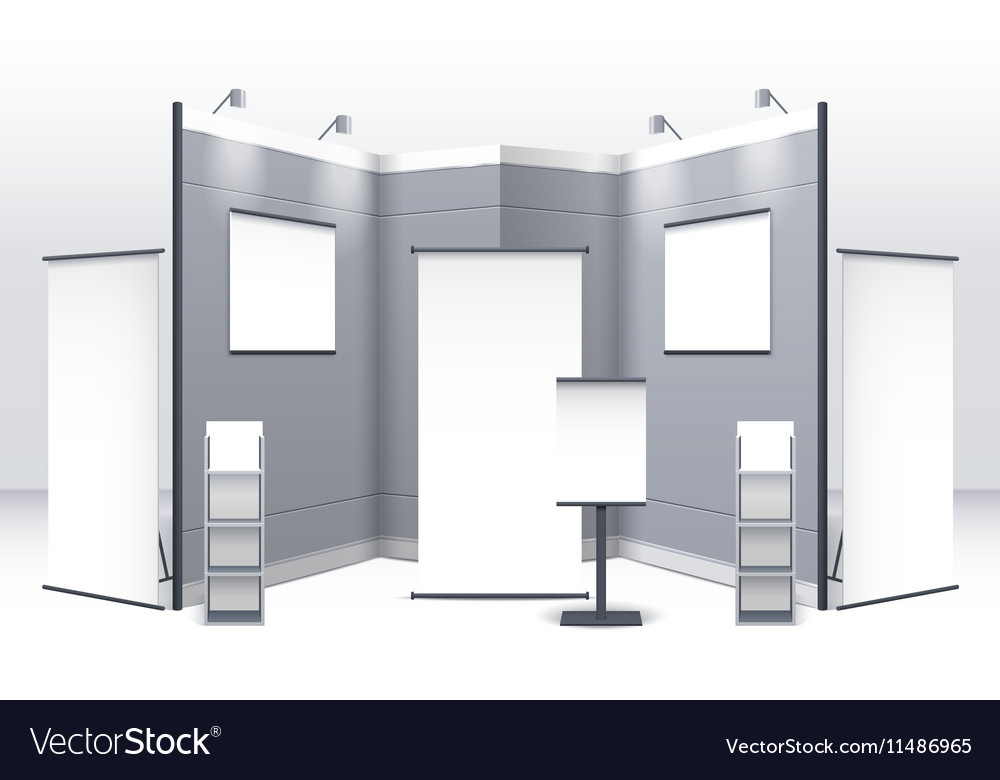 Exhibition Stand Template vector image