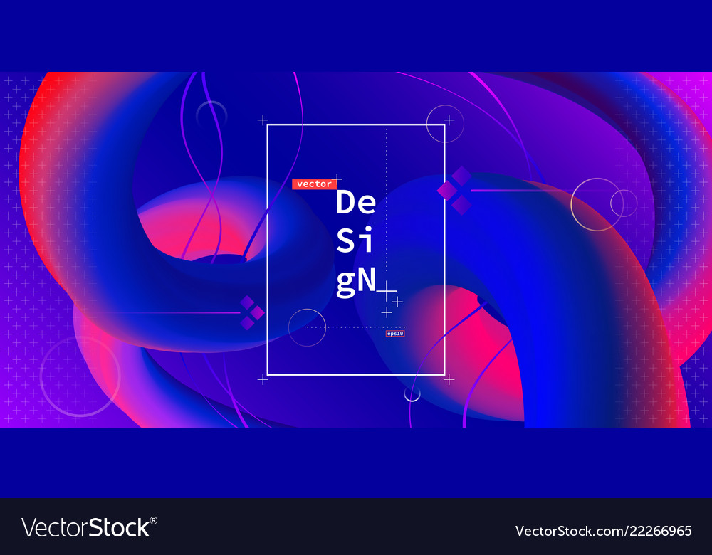 Liquid color geometric background