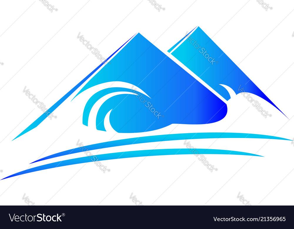 Mountain nature terrain logo