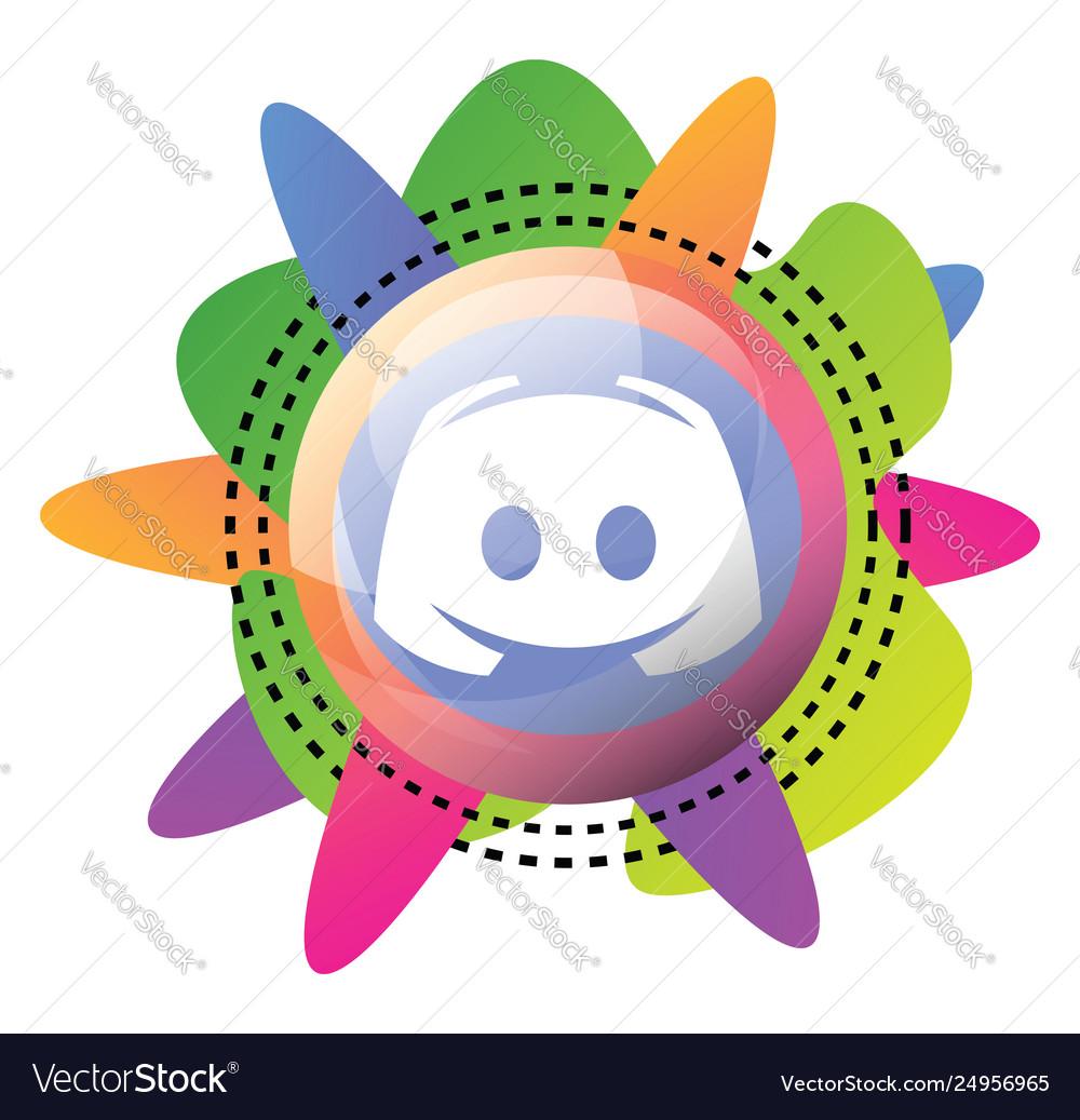 Multicolor icon a discord on a white background