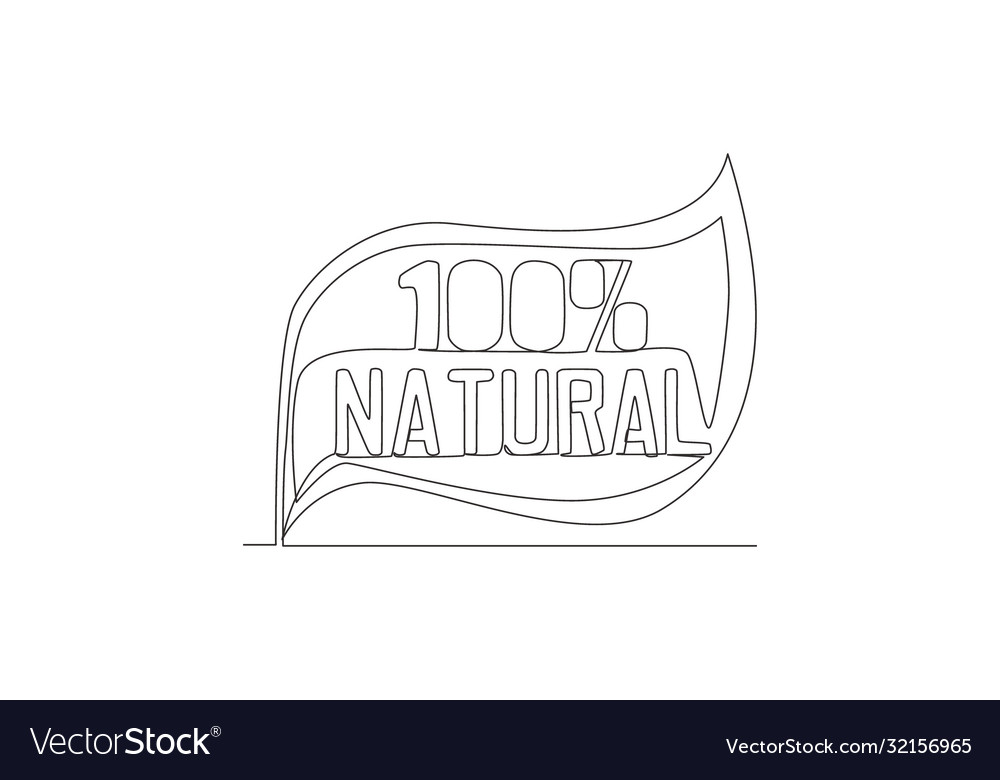 One single line drawing eco friendly and