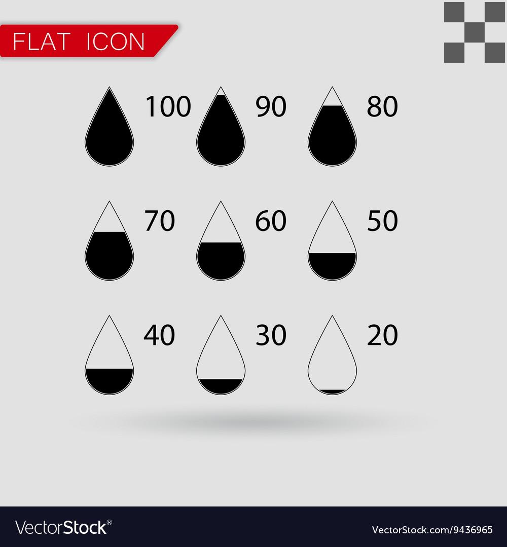 Set drop black icons square vector image