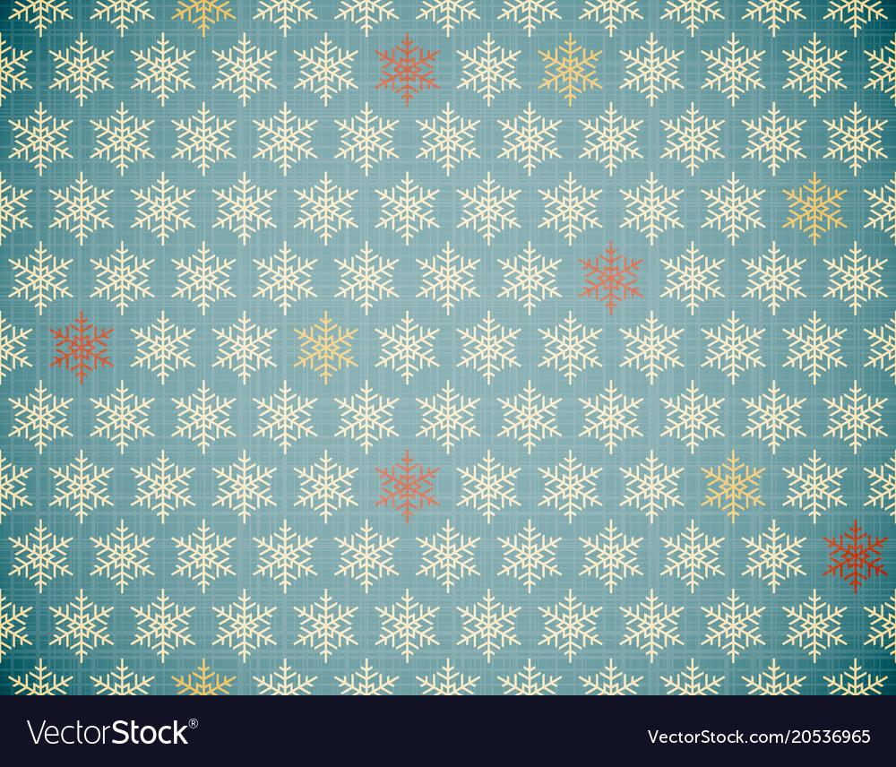 Snowflakes repeatable pattern
