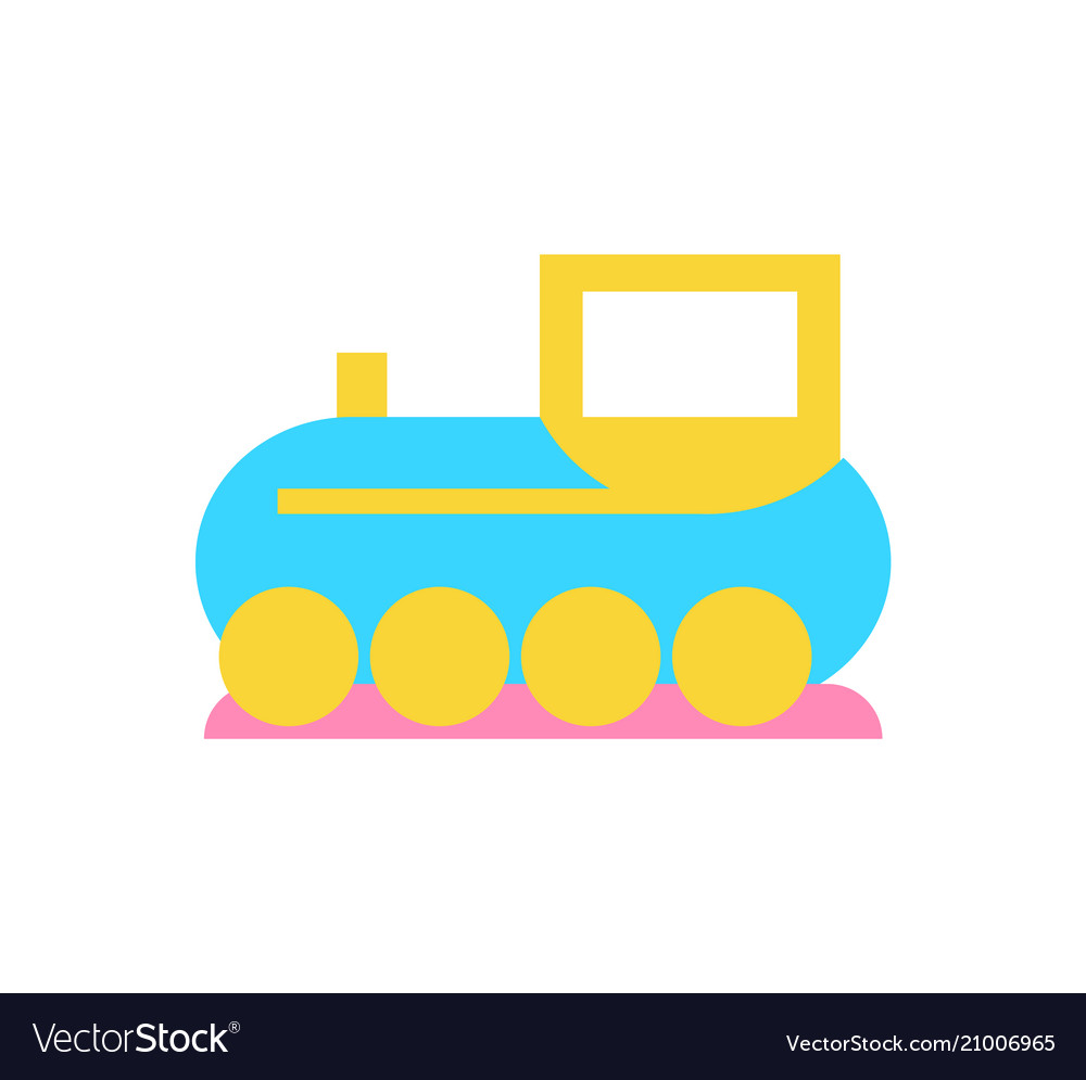 Toy train for kids play icon