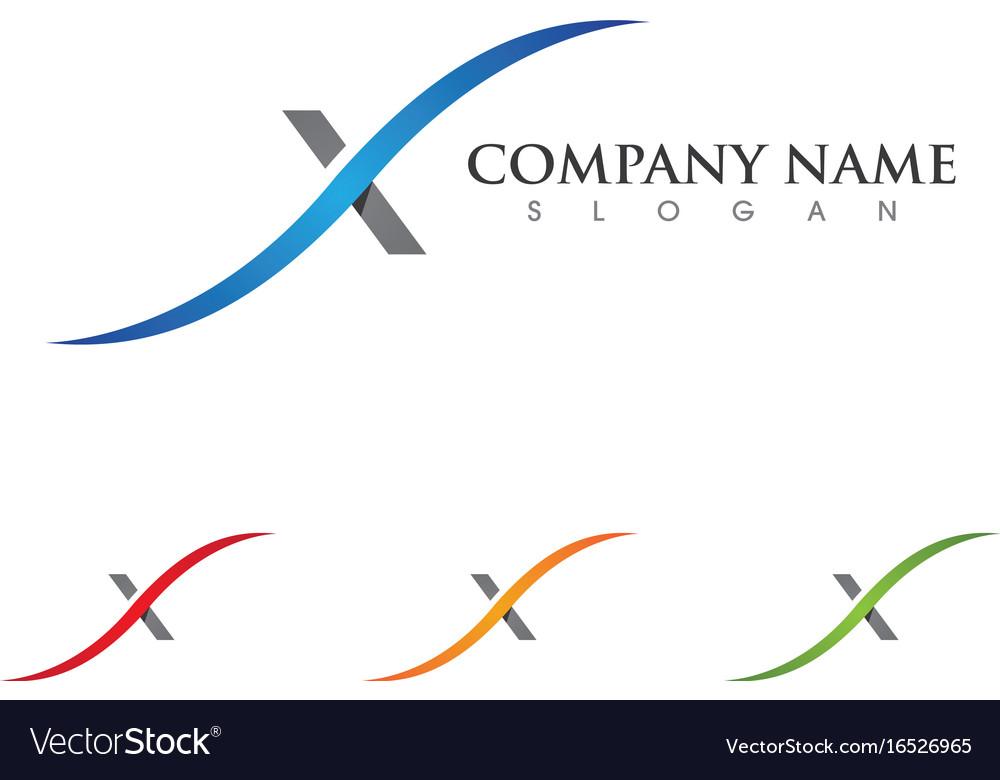 X letter logo template icon design