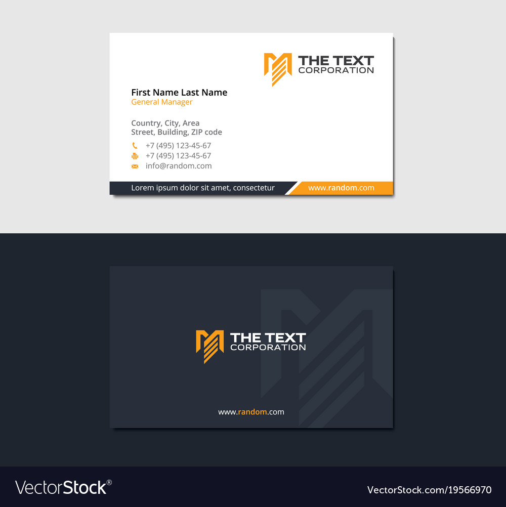 Business card for engineering and construction vector image colourmoves