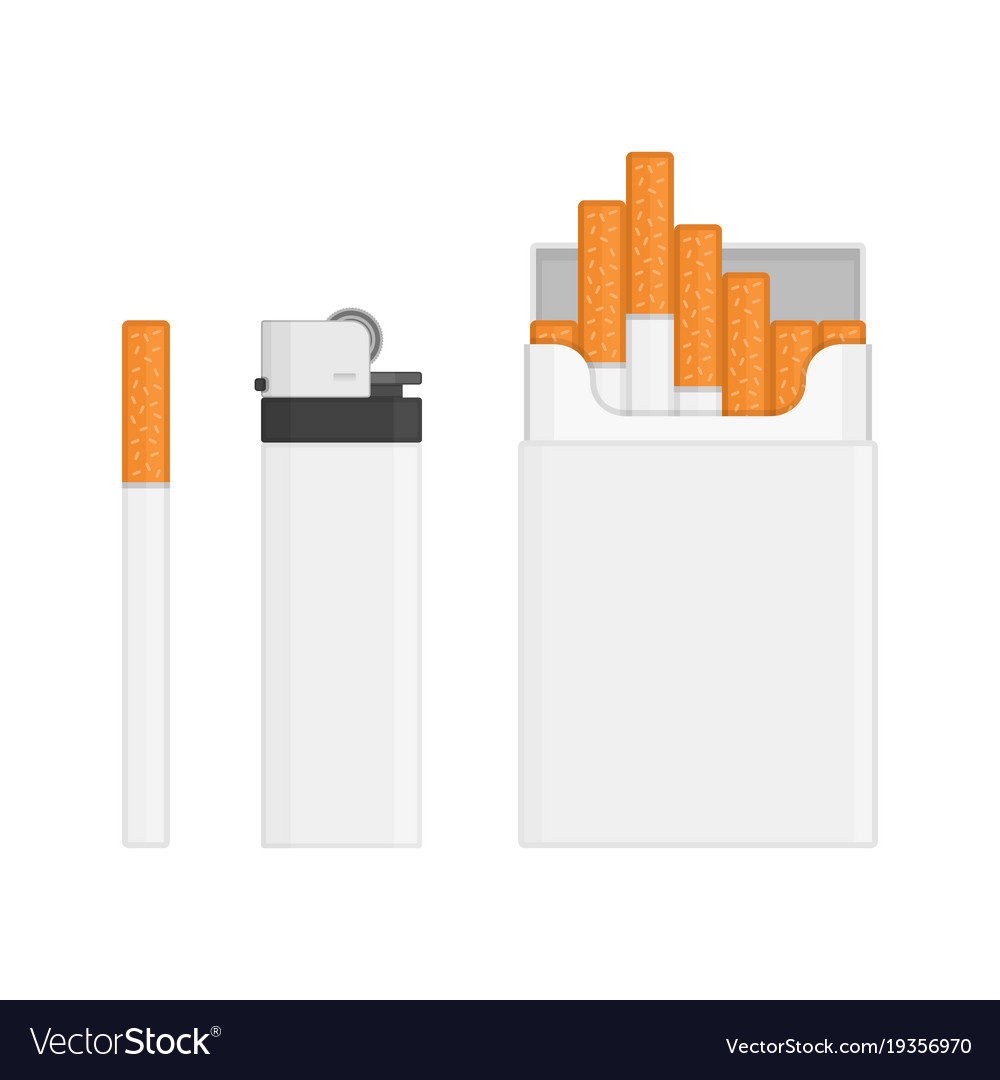 Lighter and pack of cigarettes
