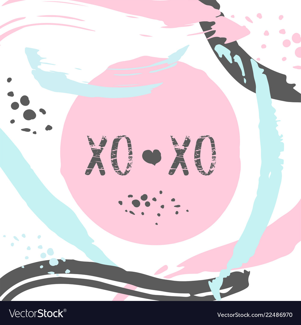 Poster with typography xo xo lettering