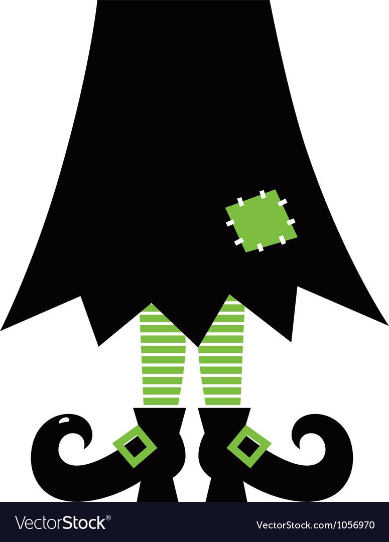 Retro Halloween Witch vector image