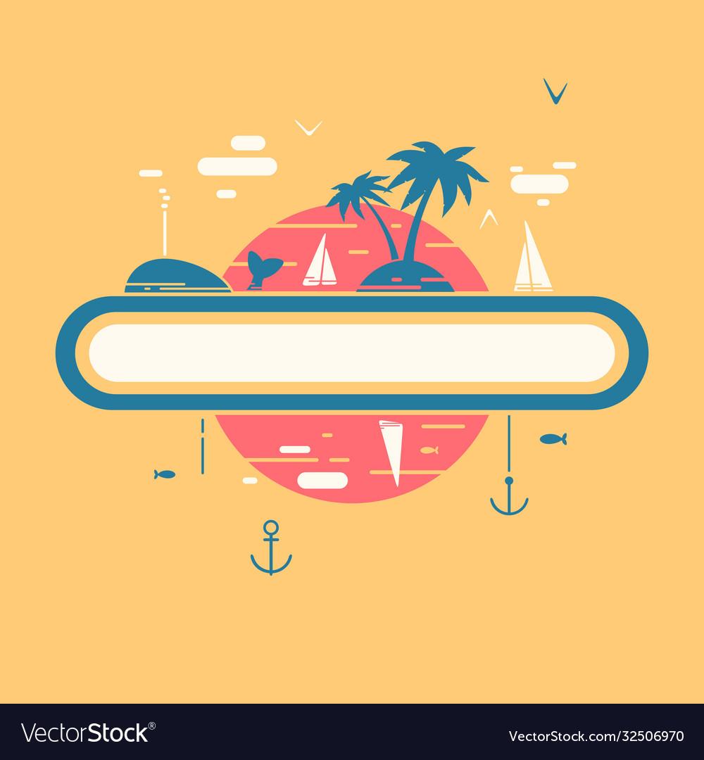 Tropical vacation symbol