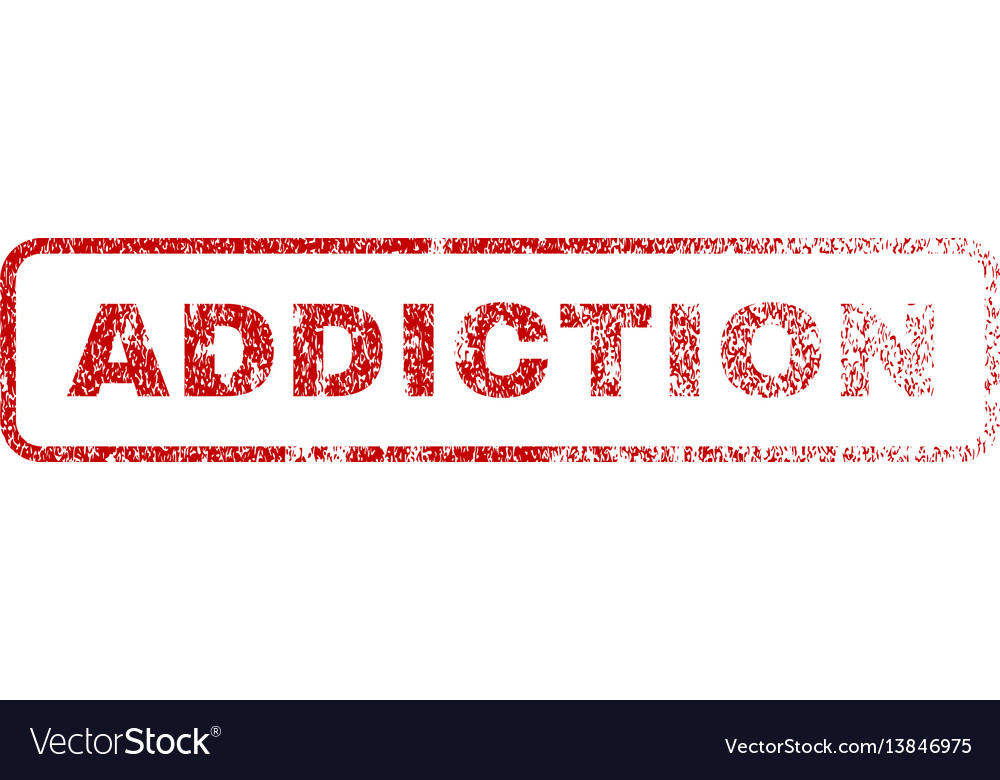 Addiction rubber stamp