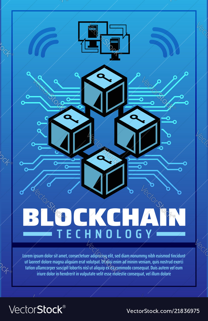 Poster on cryptocurrency and blockchain