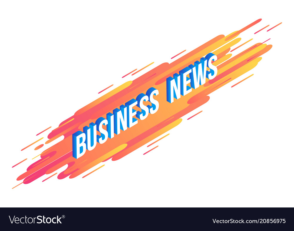 Business news isometric text design - volumetric