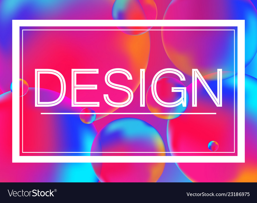 Design concept on neon color