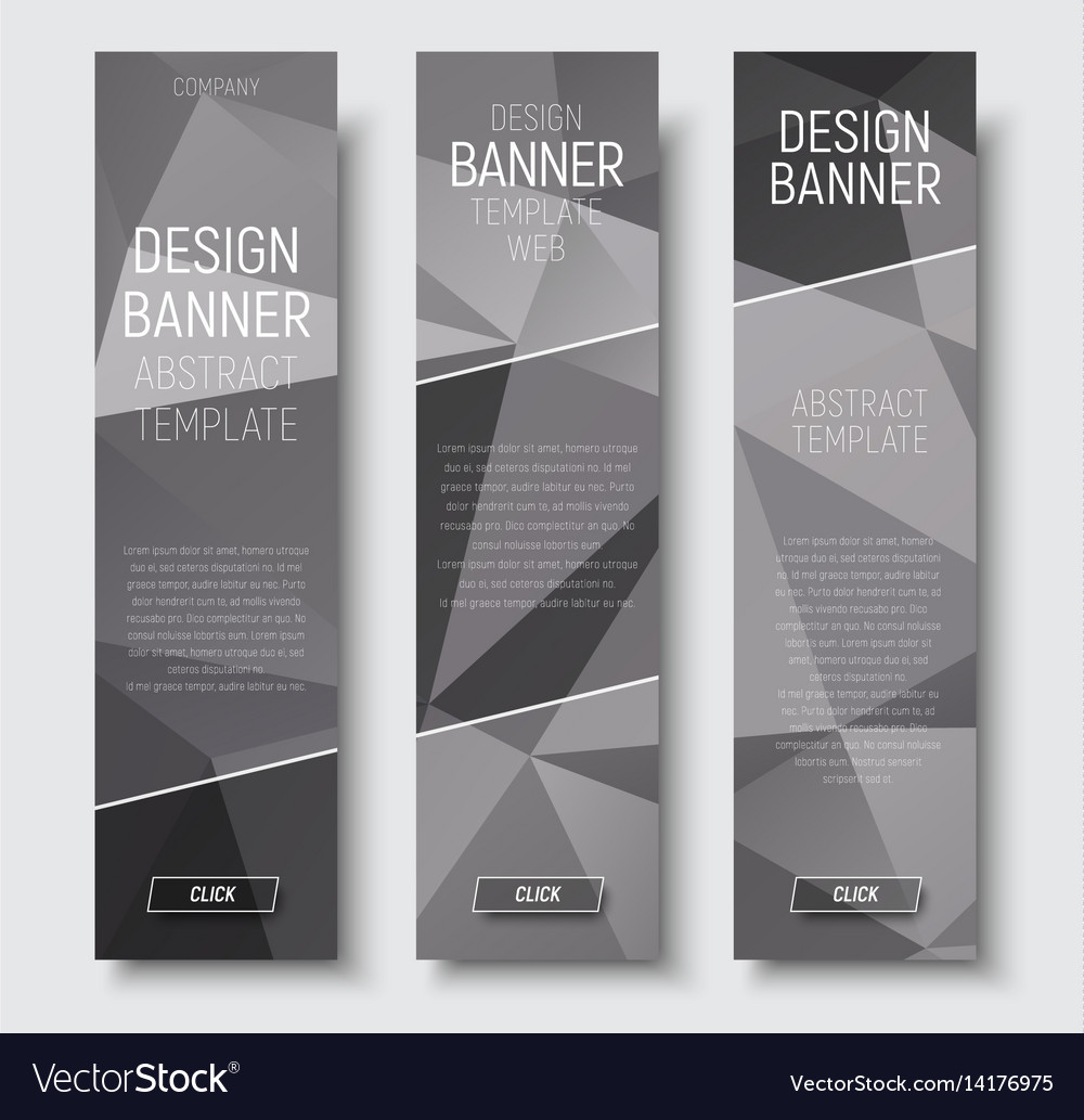 Design of vertical web banners template abstract vector image