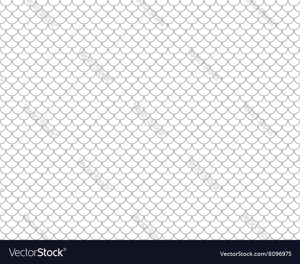 Fish scales seamless horizontal background vector image