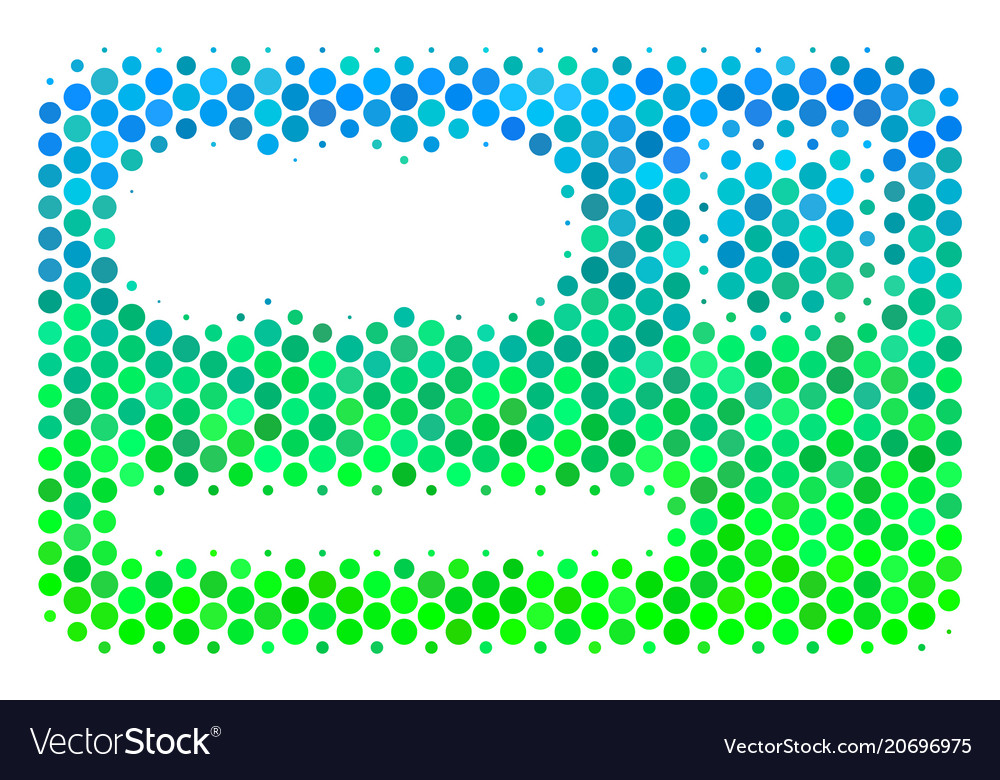 halftone blue green banking card icon royalty free vector