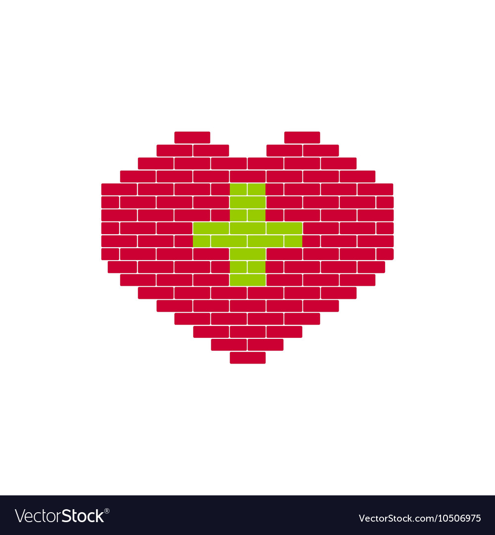 Heart Shape created from bricks