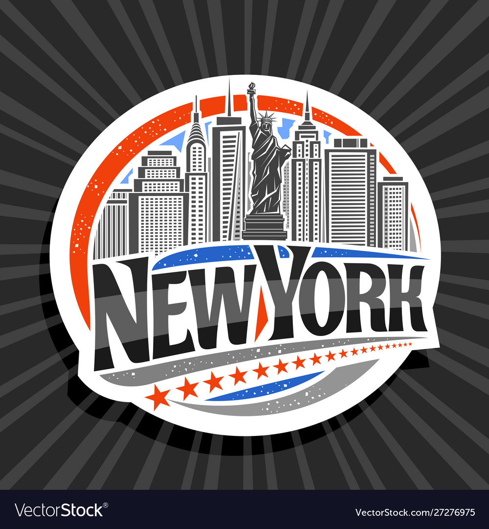 Logo For New York City Royalty Free Vector Image
