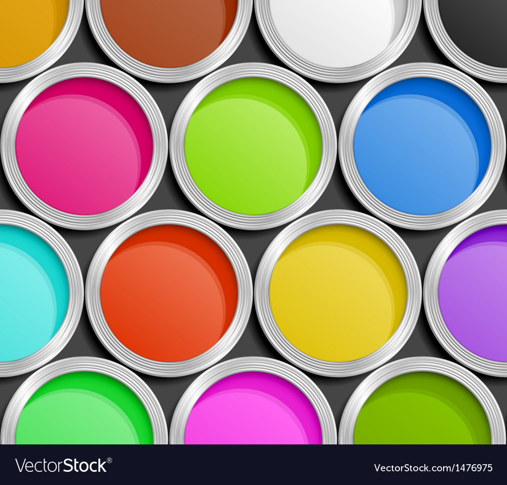 paint cans royalty free vector image vectorstock