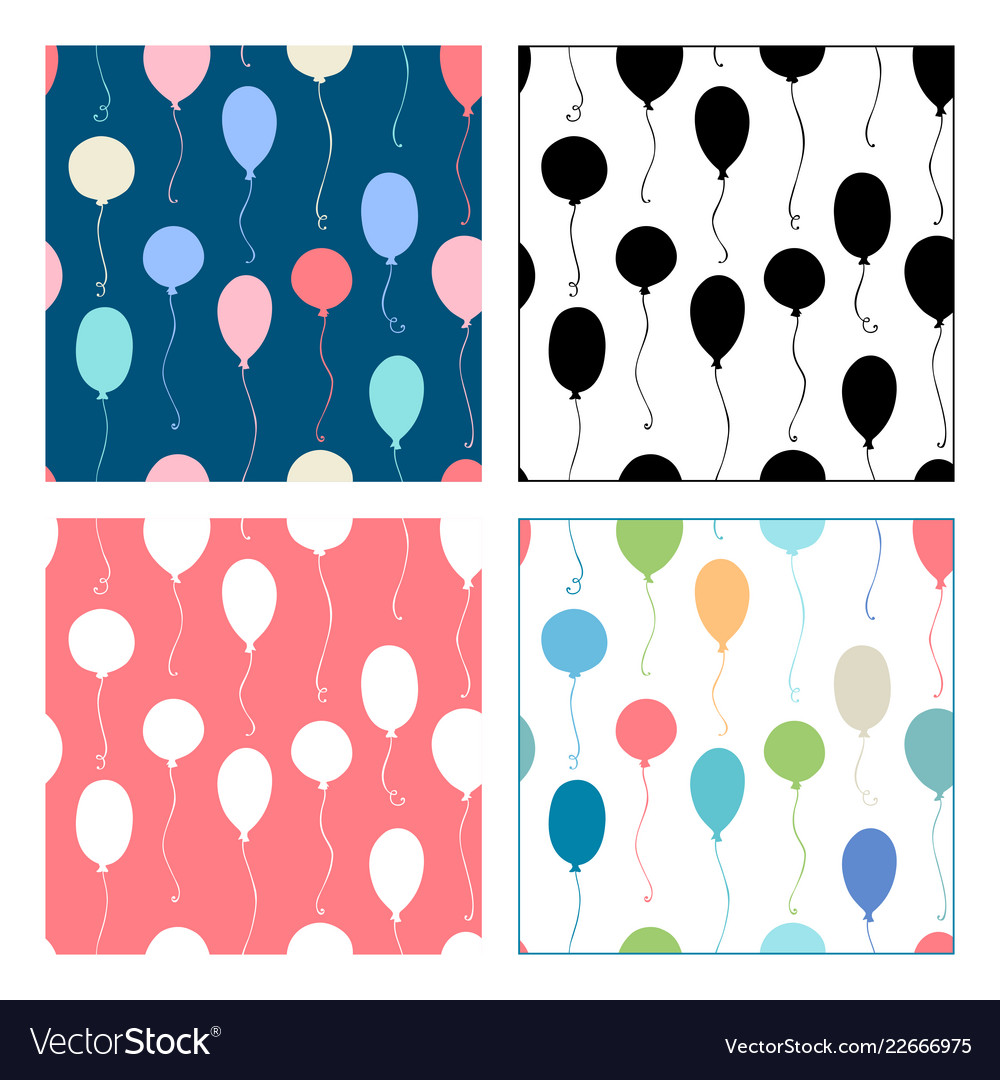 Seamless patterns of balloons