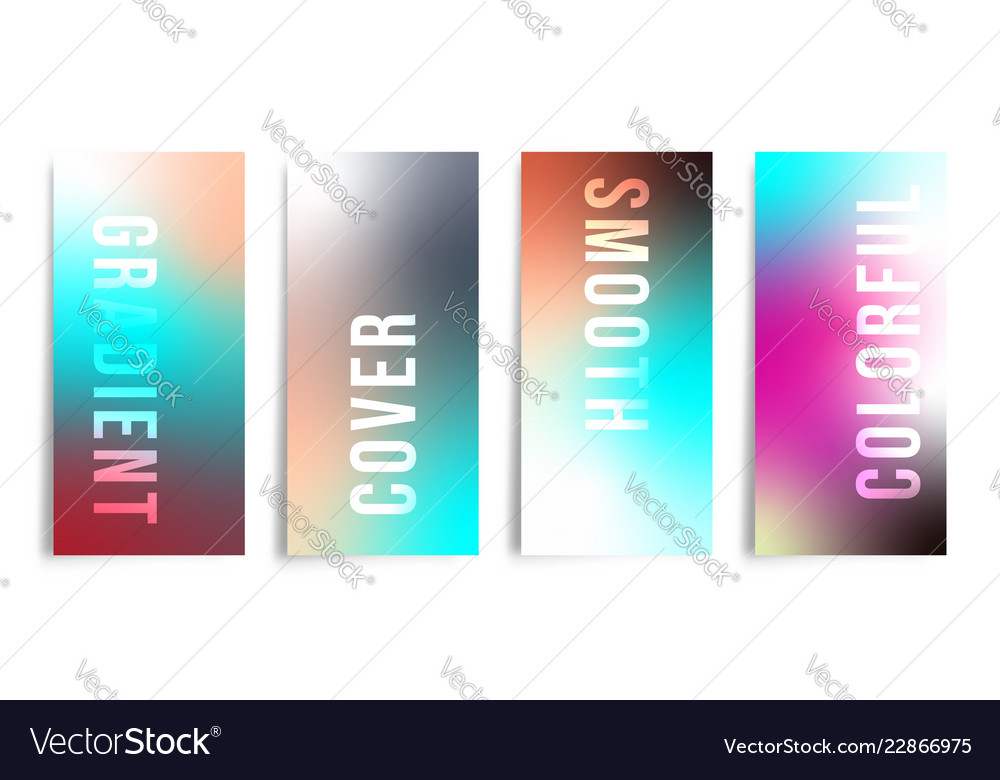 Set of colorful gradient background for printing