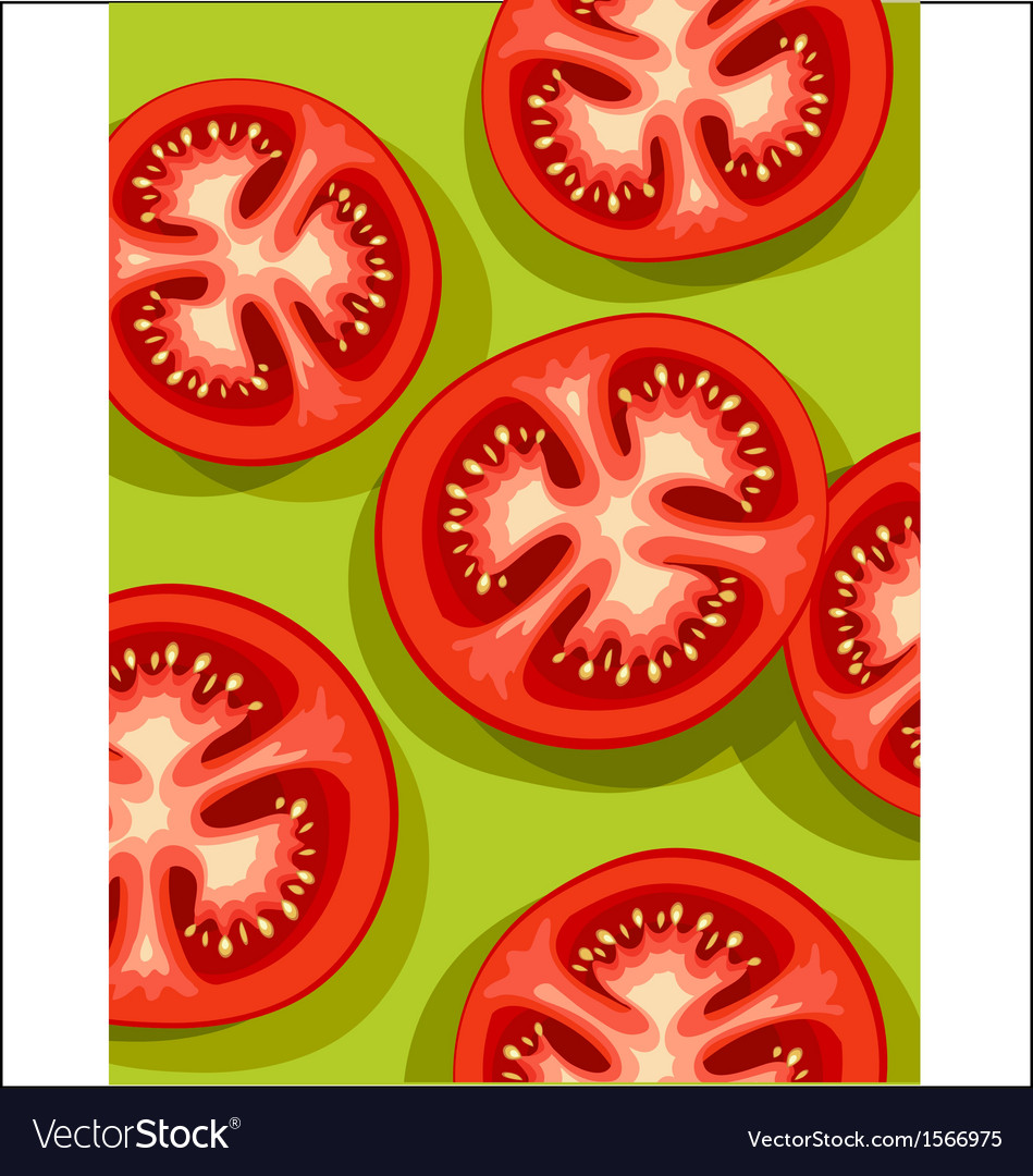 Tomatoes on green