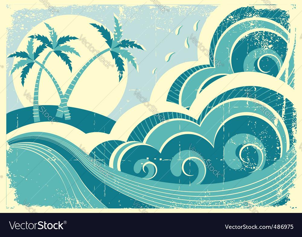 Tropical island seascape