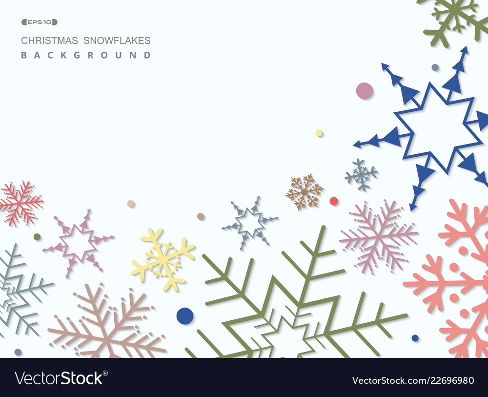 Abstract of colorful christmas snowflakes pattern