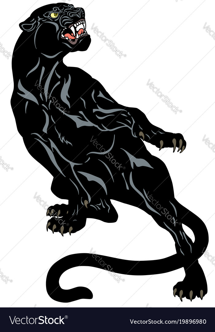 Black panther tattoo Royalty Free Vector Image